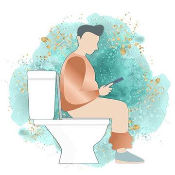 Men in Washroom image
